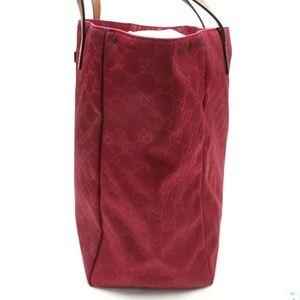 3174f57f5eb Gucci Bags - Auth GUCCI Red Nylon Tote Bag 100GTO134